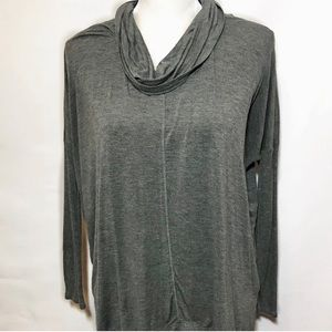 Anthropologie cowl neck long sleeve grey blouse